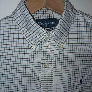Ralph Lauren Men's Shirt Blue & Black Check Sz M